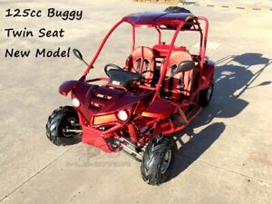 125CC Buggy ATV Sport Quad Dirt Bike 4 Wheel kart Semi Auto 3+1 SAHARA Dune red