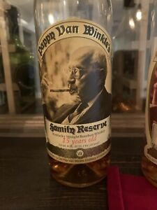 Pappy Van Winkle 15 year Release Family Reserve  Very Rare Empty Bottle