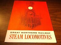 1958 GREAT NORTHERN RAILWAY STEAM LOCOMOTIVES BOOKLET