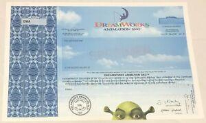 2004 DreamWorks Animation SKG Stock Certificate SPECIMEN