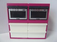 Playmobil dollshouse/cafe kitchen furniture: Double oven & storage unit NEW