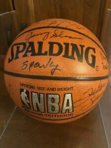 1993-1994 Team Autographed Utah Jazz Basketball