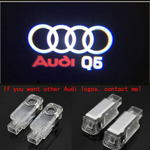 Audi Q5 2X LED Light HD Logo Projector Emblem Ghost Shadow Door Welcome Light