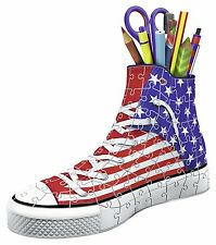 NEW Ravensburger 3D Puzzle American Flag Sneaker 108 piece trainer jigsaw age 8+