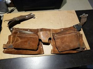 Vintage Nicholas No. 490X Leather Tool Belt Carpentry Made In America