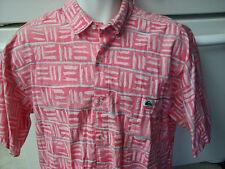 Quiksilver 1980's day glo surfer skateboarding  shirt  loose fit large vintage