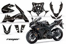 AMR Racing Graphics Decal Wrap Kit Yamaha R1 Street Bike 2004-2005 REAPER BLACK