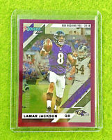 LAMAR JACKSON CARD JERSEY #8 RAVENS SP #/500 PURPLE CHROME 2019 Donruss Football