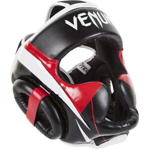 Venum Elite Headgear - Black/Red/Gray