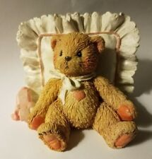 "Teddy Bear Figurine - Mandy I Love You P. Hillman appx 3"" T x 2.5"" W x 3.5"" L #d"