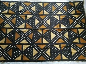 "Authentic African Handwoven 4 Colors Mud Cloth Fabric 63"" by 44"""