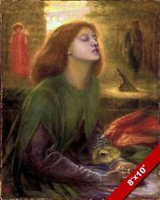 BEATA BLESSED BEATRIX PRAYING PAINTING DANTE INFERNO ART REAL CANVASPRINT