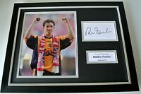 Robbie Fowler SIGNED FRAMED Photo Autograph 16x12 display Liverpool PROOF & COA