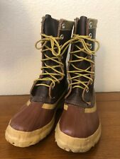 MINER Weatherseal Canada Rubber & Leather Hunting Rockabilly Duck Boots 6 Brown