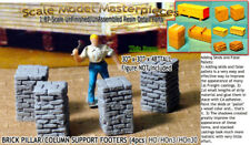 Brick Pillar/Column Support Footers (4pcs-Lg) Scale Model Masterpieces HO/1:87