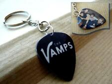 THE VAMPS Plectrum KEYRING double sided Guitar Pick CHAIN FOB Brad Connor James