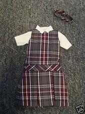 NIP 3 pc SCHOOL UNIFORM Dress Jumper Dress Outfit for Barbie doll PLAID #34