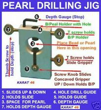 BEAD PEARL DRILLING JIG DEPTH GAUGE HOLD ROUND BEADS TO DRILL QUICK SLIDE ACTION