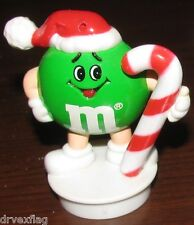 Vintage 1992 Green Plain M&M Christmas Candy Cane Decoration / Topper VERY RARE