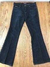 Bubblegum Low Rise Stretch Jeans Leather Like Lace Up Sides - Size 13/14 EUC