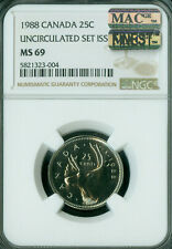 1988 CANADA 25 CENTS NGC MS69 PQ MAC FINEST GRADE MAC SPOTLESS  *