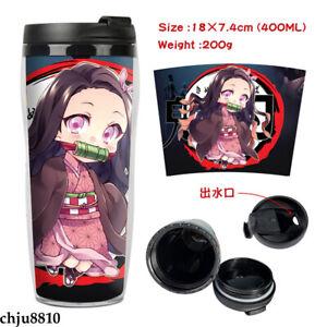 Demon Slayer Kimetsu no Yaiba Portable Vacuum Cup Plastic Double Insulation Cup