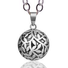 Collana ciondolo armonico donna gravidanza Ball Harmony ottone grigio/nero
