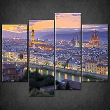 SUNSET FIRENZE DIVISIONE CANVAS Wall Art STAMPA FOTO Taglie Grandi Disponibili