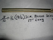 """SOLID BRASS DRIFT PUNCH(3/4+1/16) 13/16"""" X 1 7 """" +#EL1316 NEW MADE IN USA 360 HD"""