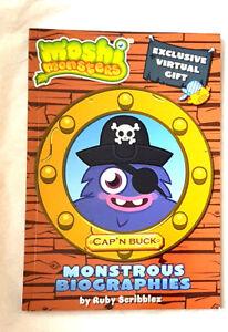 Moshi Monsters: Monstrous Biographies:Cap 'N ' Buck by Ruby Scribblez New