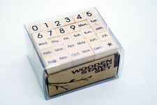 30pcs Stamps Unmounted calendar Rubber Stamp Date Weed Month