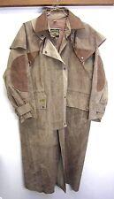 Australian Duster Jacket Coat Down Under gray 100% cotton oilskin waxed sz S