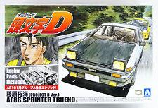 Aoshima 08133 Initial D T.Fujiwara AE86 Trueno (Project D Ver.) 1/24 scale kit