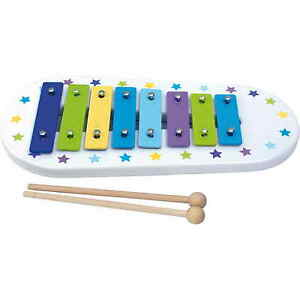 JaBaDaBaDo Spielzeug Xylophon Glockenspiel Blau