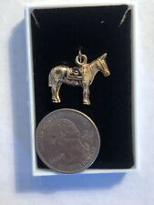 Beautiful Gold Army Usma West Point Mule Charm