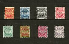FRANCE REUNION (Z-457) 1907 SGD76-83 Y&T 6-13 POSTAGE DUE SET OF 8  MM