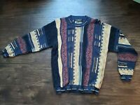 Vintage Protege Collection Knit Sweater Large Cosby Coogi Style Hip Hop 90s USA