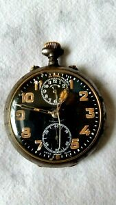 """ANTIQUE 1910 """"ZENITH"""" POCKET WATCH WITH ALARM-FOR REPAIR"""