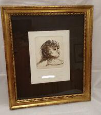 ARNO BREKER - (1900 - 1991) - Einzellithographie - Frauenportrait, signiert/Widm