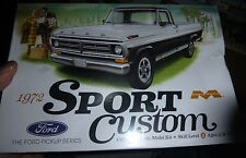 MOEBIUS 1972 FORD SPORT CUSTOM PICKUP TRUCK 1/25 Model Car Mountain KIT FS