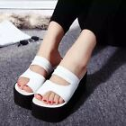 Hot Womens Chunky Wedge Heels Platform Flip Flops Roman Thong Sandals Creeper Sz