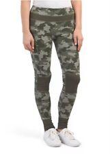 NWT $68 Women Kyodan Yoga Active Running Jogging Leggings Olive Green Camo XS S