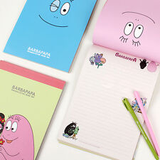 63sheets BARBAPAPA Cartoon Letter - Ruled Lined Writing Stationery Paper Pad
