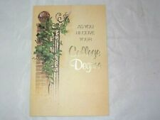 Vintage Unused College Degree Graduate Fravessi Congratulations Greeting Card