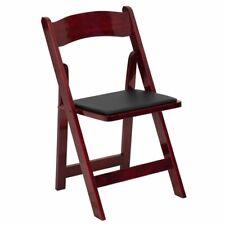 Flash Furniture Wood Folding Chair in Mahogany