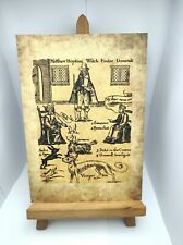 More details for witch finder general antique effect print 588 a4 historic art picture occult