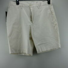 """Mens Polo Ralph Lauren Frontier Cream Stretch Classic Fit 9"""" Shorts 34 W X 10"""