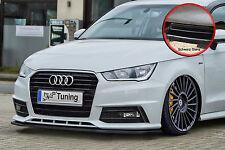 SPOILER spada front spoiler labbro ABS AUDI a1 Facelift S-LINE NERO LUCIDO