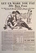 1912 AD(XB4)~SARGOL CO. BINGHAMPTON, NY. FLESH BUILDER TO MAKE YOU FAT.