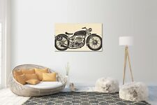 Pegatina de pared, adhesivo Pared Vintage Motocicleta tamaño: 120 x 70cm